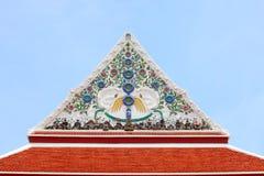 Parte dianteira do telhado do templo Fotografia de Stock Royalty Free