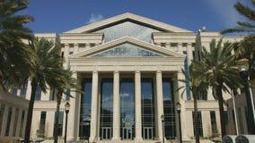 Parte dianteira do tribunal do Condado de Duval em Jacksonville, Florida filme