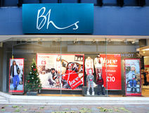 Parte dianteira home britânica da loja das lojas de BHS Foto de Stock Royalty Free