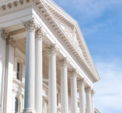 Parte dianteira ou edifício do Capitólio do estado de Califórnia Imagem de Stock Royalty Free