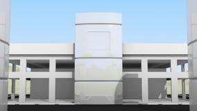 Parte dianteira pequena do prédio de escritórios Fotografia de Stock Royalty Free