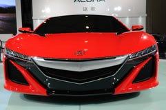 Parte dianteira vermelha do conceito de Acura NSX imagem de stock