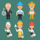 Parte differente 15 di professioni dei caratteri Immagini Stock