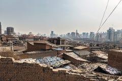 Parte difficile della città cinese Immagine Stock Libera da Diritti