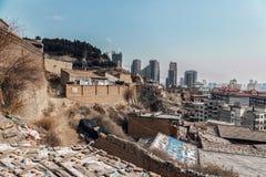 Parte difficile della città cinese Fotografie Stock Libere da Diritti