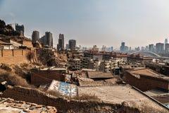 Parte difficile della città cinese Fotografie Stock