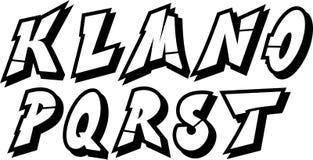 Parte 2 do alfabeto dos grafittis Imagens de Stock Royalty Free