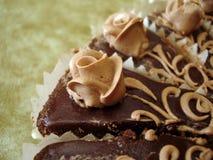 Parte do bolo de chocolate Fotos de Stock Royalty Free