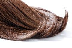 Parte do cabelo de Brown imagem de stock