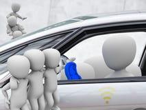 Parte do carro, carsharing Foto de Stock