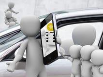 Parte do carro, carsharing Fotografia de Stock