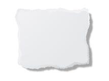Parte do cartão branco Imagens de Stock