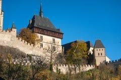 Parte do castelo de Karlstein Imagens de Stock Royalty Free