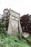 Parte do castelo de pedra de Lowenburg, em Kassel, Alemanha imagem de stock