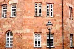 Parte do edifício com indicadores Imagens de Stock Royalty Free