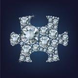 A parte do enigma fez muito diamante ilustração royalty free