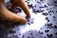 Parte do enigma no coração Imagem de Stock