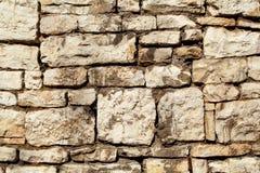 A parte do granito natural da pedra da parede de alvenaria do contraste é um teste padrão da textura, do material e do fundo com  Imagens de Stock Royalty Free