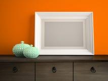 Parte do interior com o quadro branco 3D que rende 2 Imagem de Stock Royalty Free