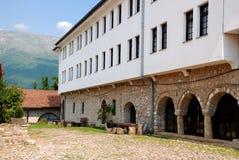 Parte do monastério de St Naum Ohridski, Ohrid, Macedônia Imagem de Stock