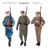 PARTE 01 do século dos soldados XX Foto de Stock Royalty Free