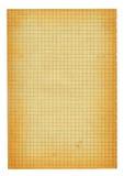 Parte do tamanho de XXL de papel esquadrado velho Imagem de Stock