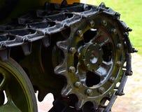 A parte do tanque roda a fotografia feita ferro do objeto Imagem de Stock