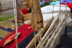 Parte do tear de madeira Imagens de Stock Royalty Free