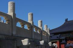 Parte do Templo do Céu no Pequim fotografia de stock