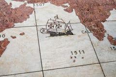 A parte do vento de mármore aumentou de Belém em Lisboa portugal fotografia de stock royalty free
