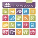 Parte 1 dos ícones da exploração agrícola Imagens de Stock Royalty Free