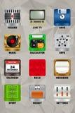 Parte 2 dos ícones v2.0 do dispositivo móvel Imagens de Stock Royalty Free