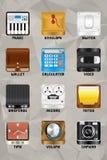 Parte 3 dos ícones v2.0 do dispositivo móvel Imagem de Stock