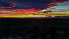 Parte dos de la puesta del sol Foto de archivo
