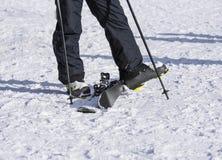 Parte dos esquiadores na neve Imagem de Stock Royalty Free