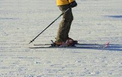 Parte dos esquiadores na neve Foto de Stock Royalty Free