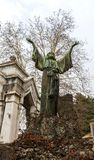 Parte ebrea del cimitero monumentale fotografie stock libere da diritti