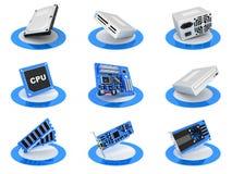 Parte el icono del ordenador Imagenes de archivo