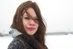 Parte esterna un giorno ventoso freddo fotografie stock