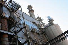 A parte externa de uma construção industrial de aço Foto de Stock Royalty Free