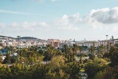 Parte externa Histórico-botânica Malaga dos jardins do ³ n de Concepcià do La apenas, Espanha imagens de stock