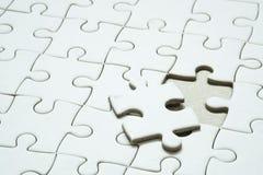 Parte finale del puzzle di puzzle Immagine Stock