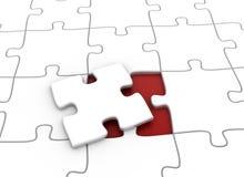 Parte finale del puzzle di puzzle Immagini Stock Libere da Diritti