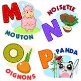 Parte francesa 4 del alfabeto Imagenes de archivo
