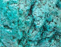 Parte grande de uma pedra natural do fundo de turquesa Fotos de Stock Royalty Free