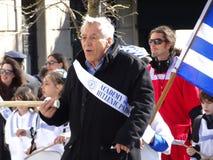 Parte griega 5 50 del desfile 2016 del Día de la Independencia de NYC Imagenes de archivo