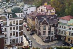 Parte histórica reconstruida de la ciudad de Kiev Imágenes de archivo libres de regalías