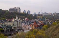 Parte histórica reconstruida de la ciudad de Kiev Fotografía de archivo libre de regalías