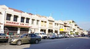 Parte histórica da cidade malaia velha Fotografia de Stock