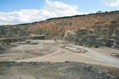 Parte inferior da mineração de superfície Foto de Stock